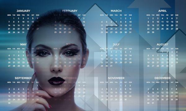 rostro mujer con calendario