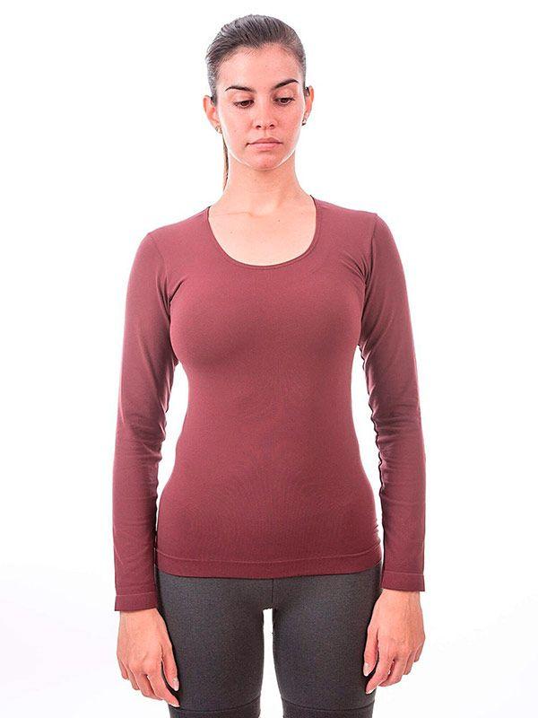 camisetas manga larga mujer basicas